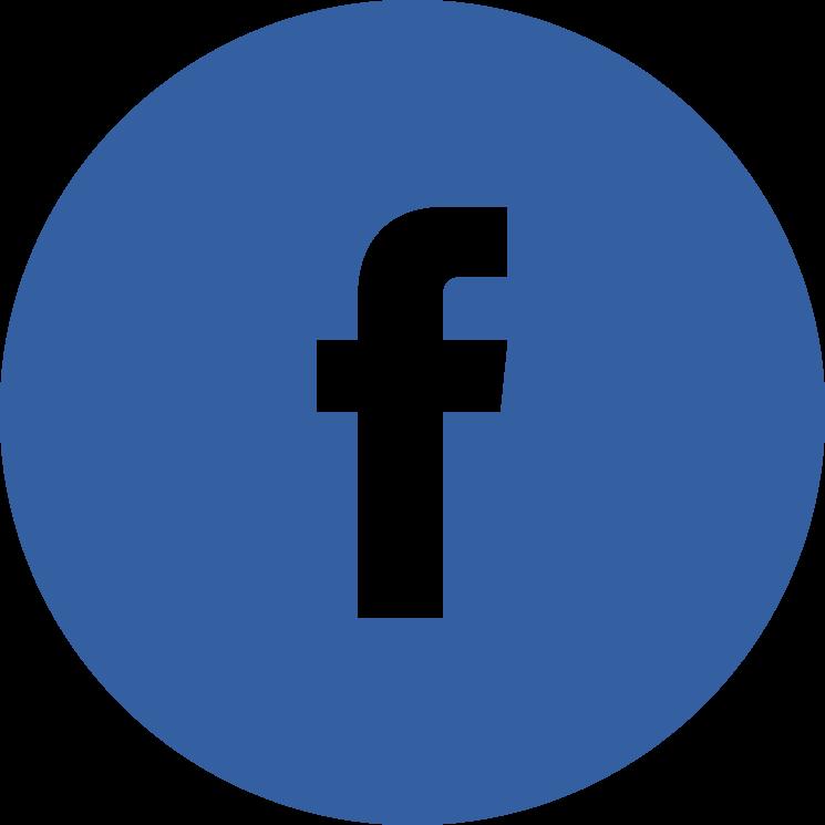 Flat social icon circle facebook