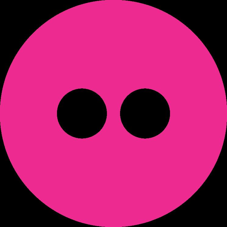 Flat social icon circle flickr