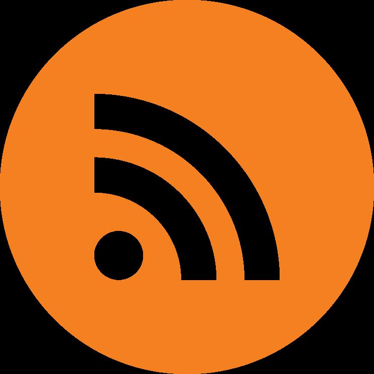 Flat social icon circle rss
