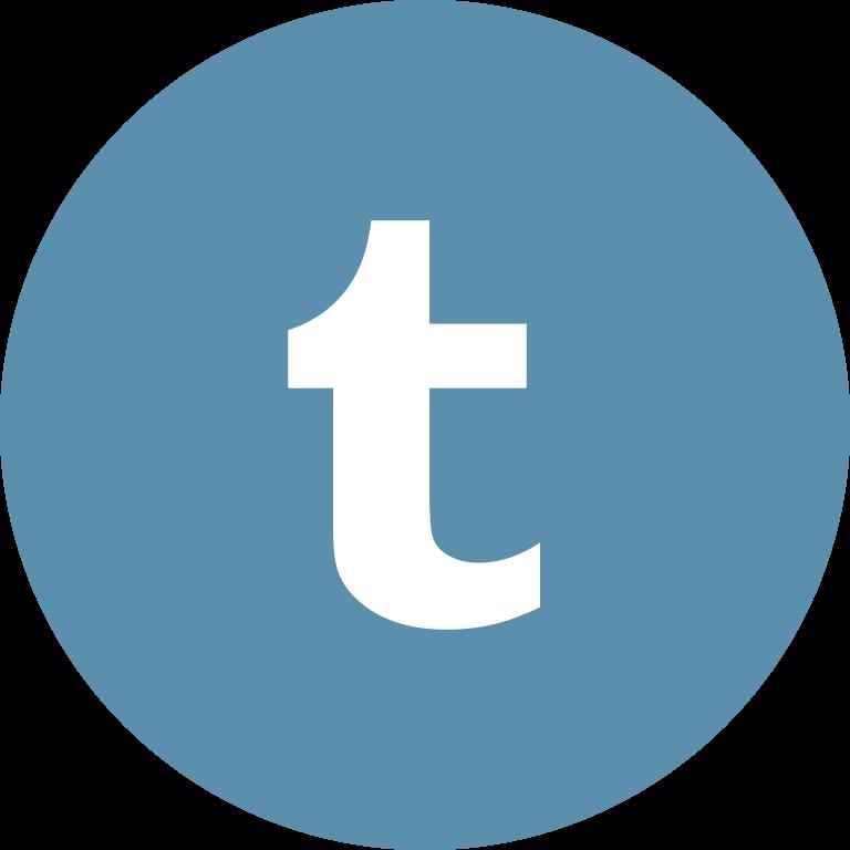 Flat social icon circle tumblr