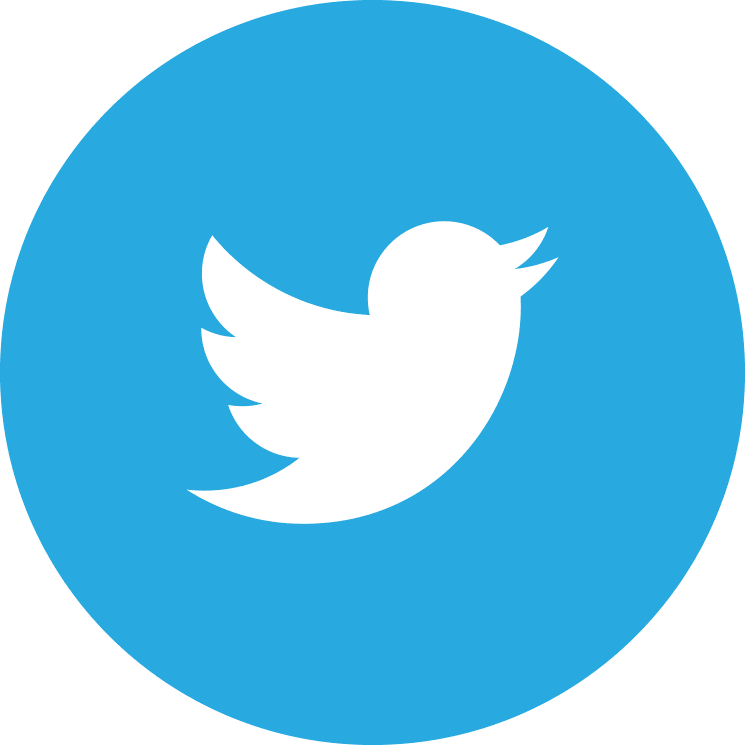 Flat social icon circle twitter