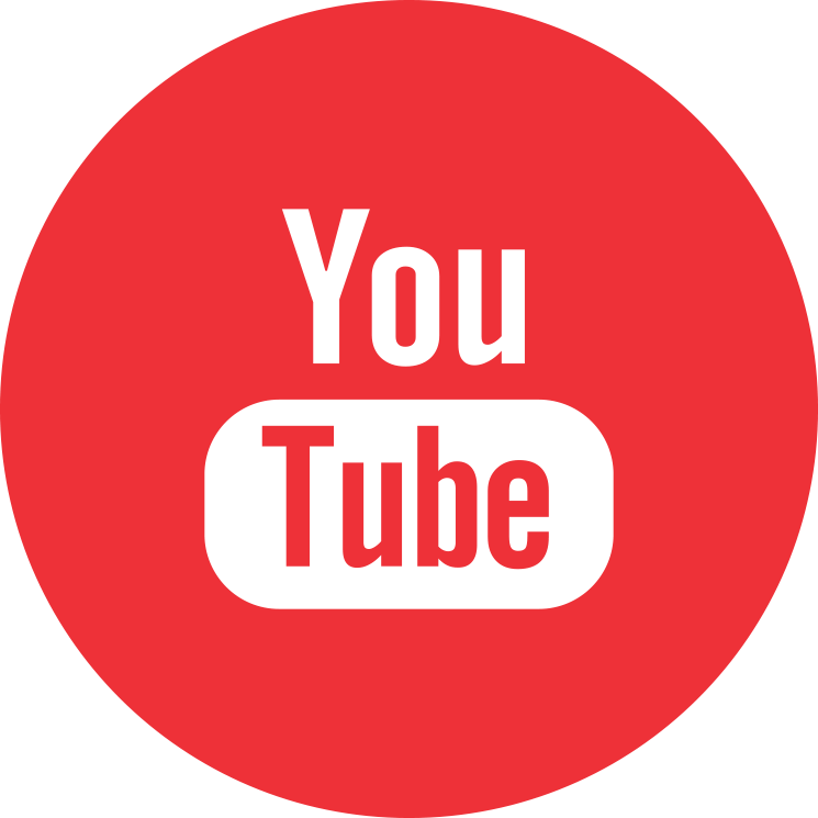 Flat social icon circle youtube
